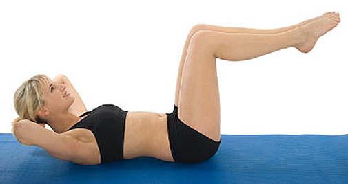 Упражнения для живота позволяют избежать опущение матки