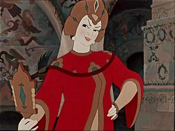 Сказка о мёртвой царевне и о семи богатырях с картинки