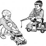 через игру у детей закрепляется правильное отношение к труду