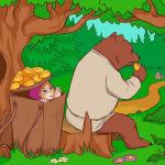 Машенька и медведь. Русская народная сказка.
