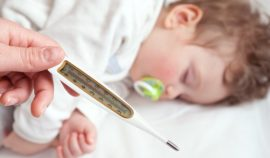 Повышение температуры тела у маленького ребенка