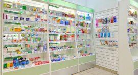 витрина в аптеке