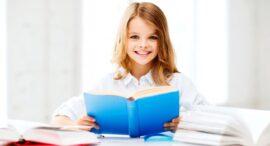 ребенок за книгой